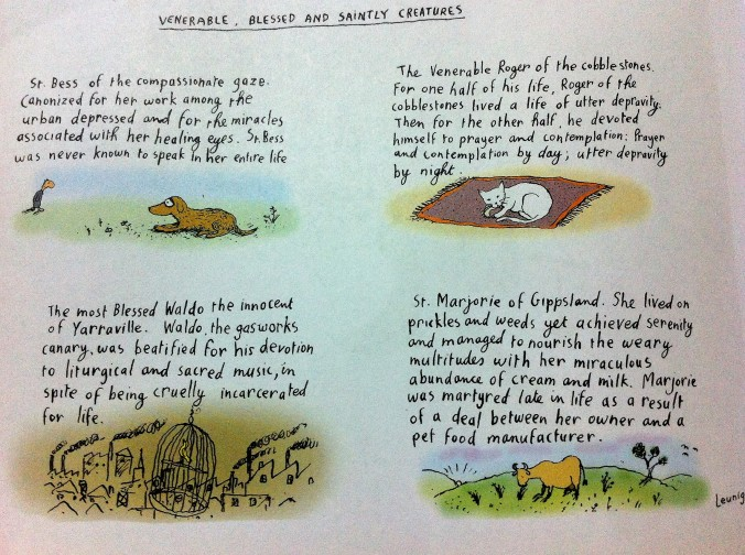 Leunig Venerable Blessed Saintly Creatures