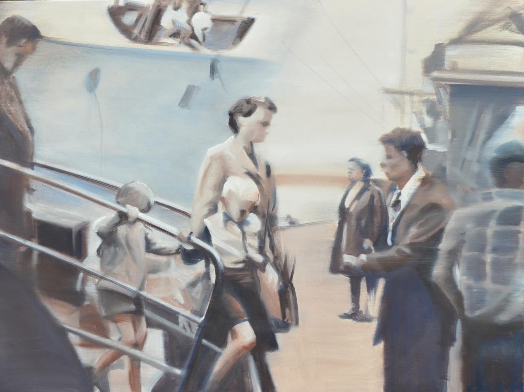 first steps on Australian soil 2018 oil on canvas 100x 70 cm