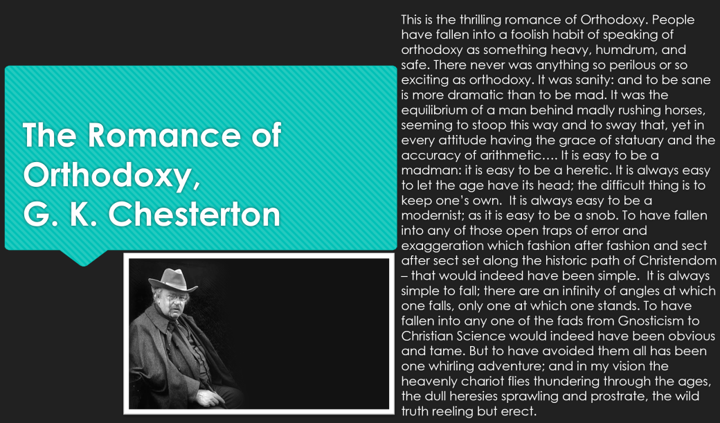 chesterton quote orthodoxy