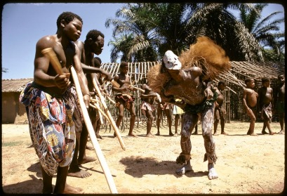 Initiation rituals among Ndaka people, near Epulu, Ituri Forest, Congo (Democratic Republic),